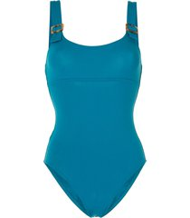 eres buckle detail low back one piece - blue