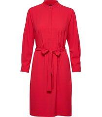 d2. utility shirt dress knälång klänning röd gant