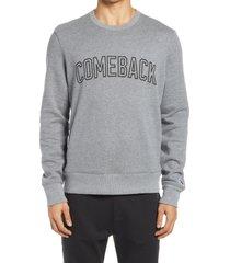 men's fourlaps signature sweatshirt, size x-large - grey