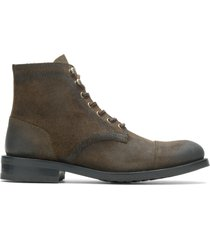 wolverine men's blvd cap toe rugged leather - military, size 14