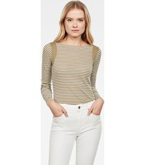 zovas yarn dyed stripe slim boatneck top
