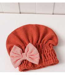 bowknot hair drying towel hat