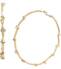 jessica simpson stone skinny hoop earrings