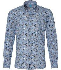 british indigo overhemd - slim fit - blauw
