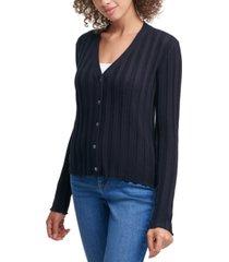 calvin klein jeans v-neck cotton cardigan
