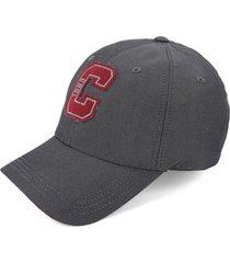 gorra gris-rojo colore