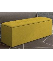 calçadeira baú paris com 140 cm canário sued nest - js móveis