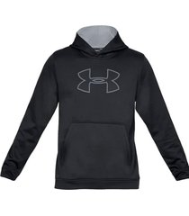 buzo negro under armour fleece