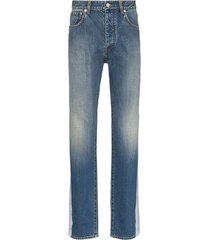 reflective panel jeans blue
