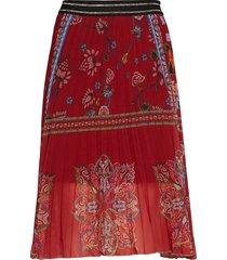 fal francia knälång kjol röd desigual