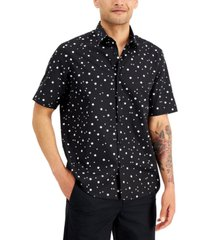 alfani men's abstract geo print shirt, created for macy's