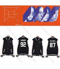 kpop f(x) baseball uniform 4walls fx coat jacket outwear luna kristal