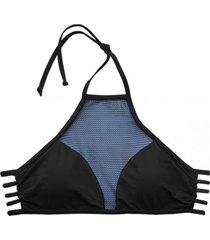 bikini estilo sostén con transparencia negro samia