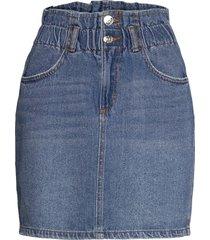 onlmillie life hw mini paper skirt kort kjol blå only