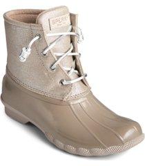 sperry women's saltwater duck booties, created for macy's women's shoes