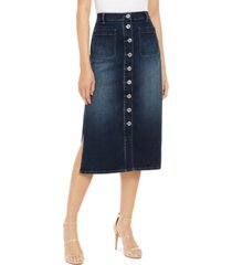 inc high-rise side-slit denim boot skirt, created for macy's