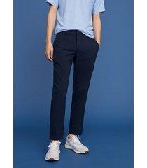 getextureerde slim-fit pantalon