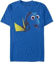 disney pixar men's finding dory big face costume short sleeve t-shirt