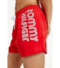 bañador con logo retro rojo tommy hilfiger