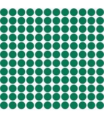 adesivo de parede bolinhas verde escuro 144un - verde - dafiti