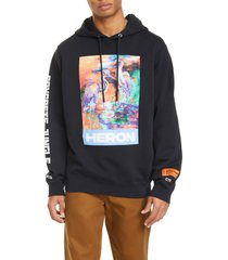 men's heron preston graphic hoodie