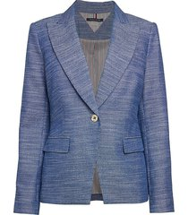 tommy hilfiger woven jacket - indigo ivy - size 14