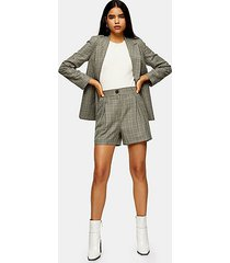 considered mint check shorts - mint