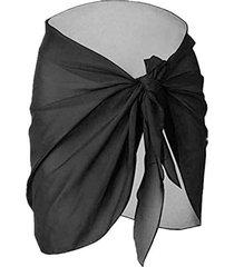 plus size sheer mesh tie front wrap sarong