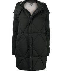 a.p.c. padded zip-up coat - black