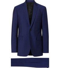 burberry slim fit wool mohair suit - blue