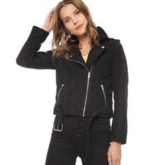 chaqueta jacqueline de yong trina negro - calce ajustado