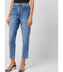 j brand women's heather high rise button fly jeans - sympathy - w27