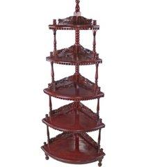 design toscano five-tiered edwardian corner shelf
