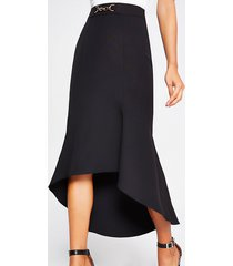 river island womens black snaffle waist fluted midi skirt