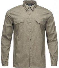 camisa rosselot q-dry shirt l/s melange verde militar lippi