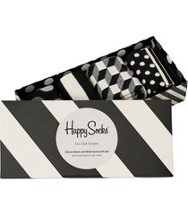 4-pack classic black & white socks gift set