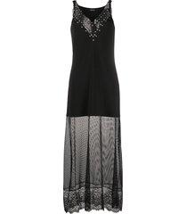 ermanno ermanno studded collar mesh-panel dress - black