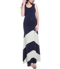 women's kimi and kai sally maternity maxi dress, size x-small - blue