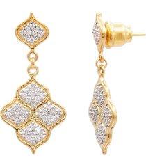 diamond pave trellis earrings