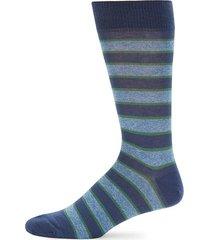 tie stripe crew socks