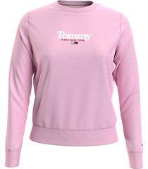 polerón essential de corte slim logo rosado tommy jeans