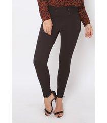 calça legging feminina the style box cintura alta - preto preto