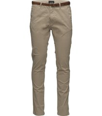 slim fit cotton/elastan garment dyed chino pant chinos byxor beige scotch & soda