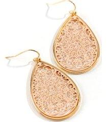 hattie filigree teardrop earrings - pale pink