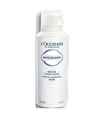 l'occitane espuma de limpeza facial iluminadora reine blanche