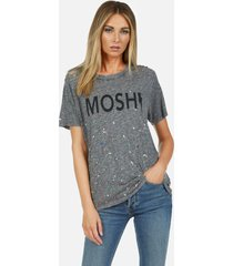 capri moshi - m heather grey multi splatter