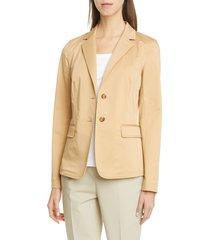 women's lafayette 148 new york thatcher blazer, size 2 - beige