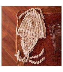 100% alpaca chullo hat, 'mocha winter' (peru)