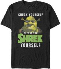 fifth sun shrek men's check yourself before you shrek yourself short sleeve t-shirt