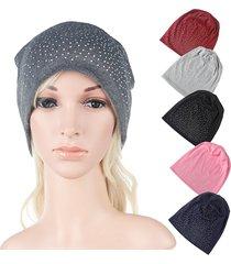 cappello per berretto lavorato a maglia elastico in cotone per donna